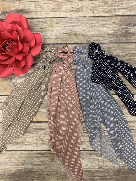 Fear Not Little Polka Dot Scrunchie Tie - Multiple Colors
