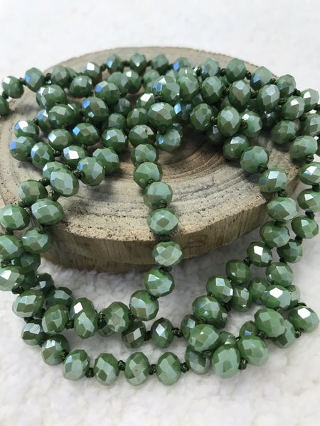 Sage Point of Perfection Beaded Necklace