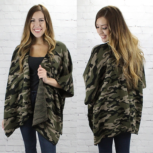 Wish You Were Here Camo Vest- One Size Fits Most - Sizes 4-20