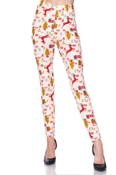 Dreaming of a Pink Christmas Legging - Sizes 4-20