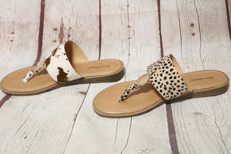 Loving Animal Print Sandal With Gold Disk Accent In Multiple Prints *Final Sale*