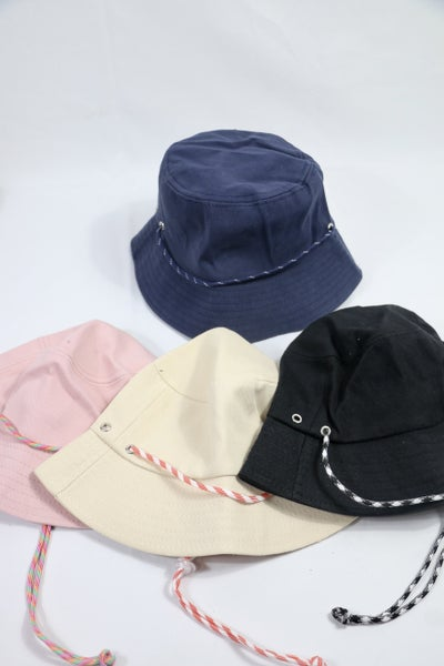 Here Comes The Sun Bucket Hat With Adjustable Neck Strap In Multiple Colors