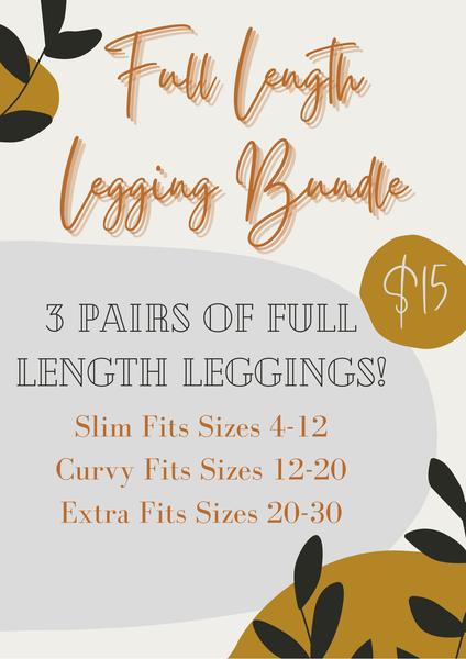 Full Length Legging Bundle - Three Mystery Pair