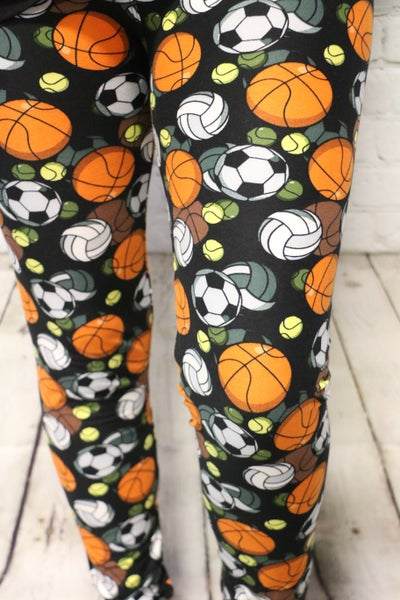 Let's Play Ball Sportsmom Leggings - Sizes 2-20