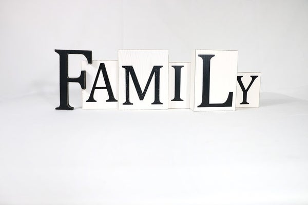 Family Block Sign