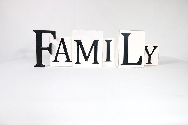 Family Block Sign
