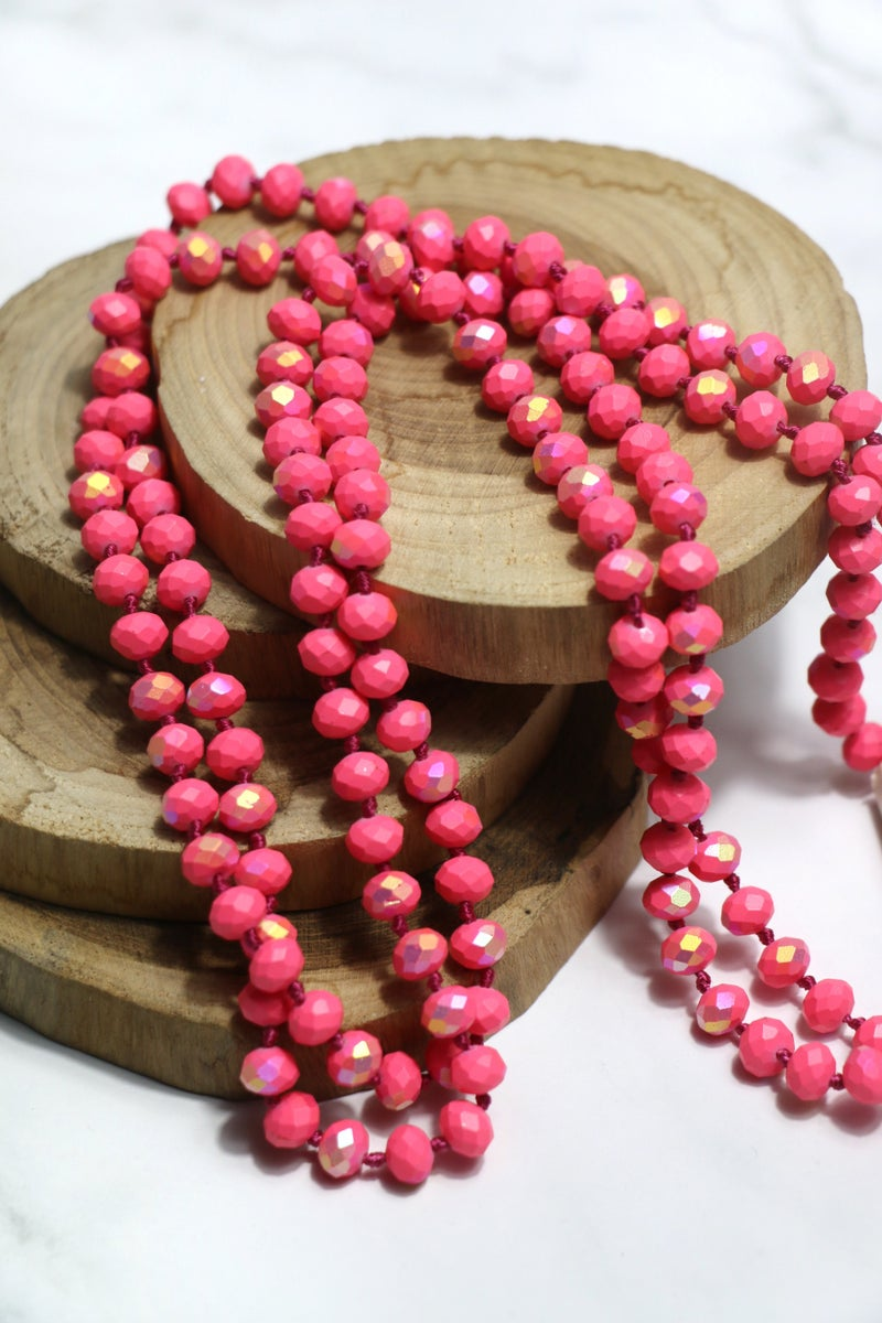 Pink Flamingo Point Of Perfection Beaded Necklace