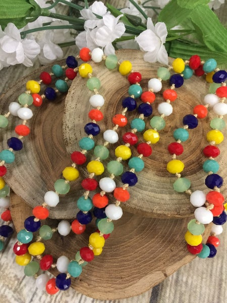 Rainbow Point Of Perfection Beaded Necklace