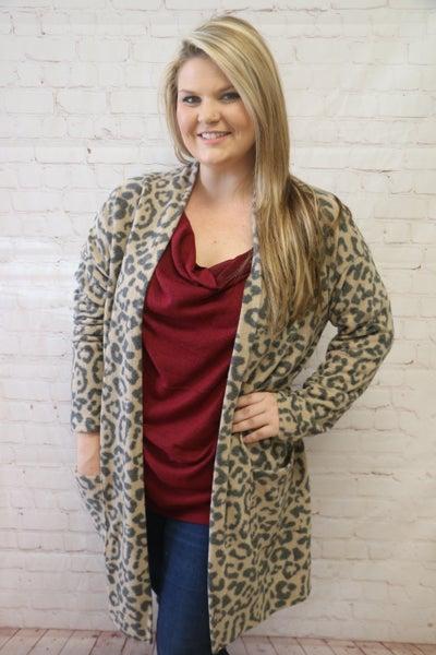 Forever Gone Super Soft Leopard Cardigan - Sizes 12-20