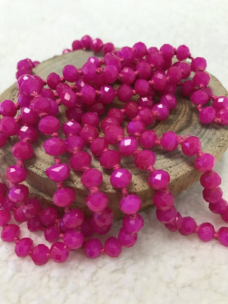 Fuchsia Point Of Perfection Beaded Necklace