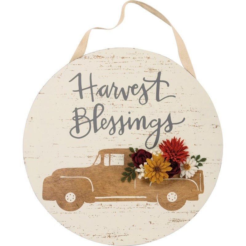 Harvest Blessings Circle Wall Decor