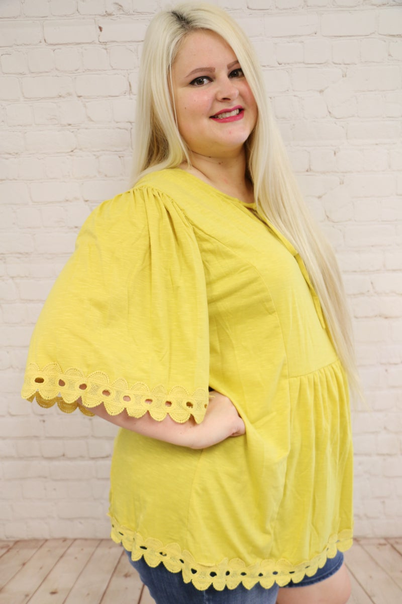 Presley Lace Trim Tunic Top In Multiple Colors -Sizes 4-20