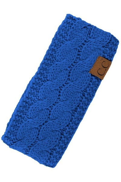 CC Cable Knit Headband in Multiple Colors
