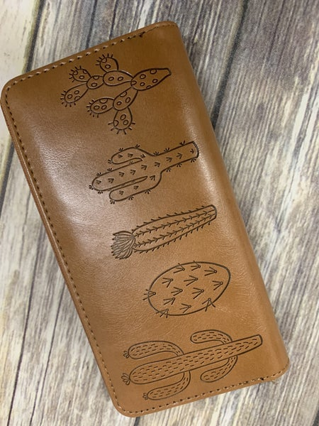 Leather Cactus Wallet