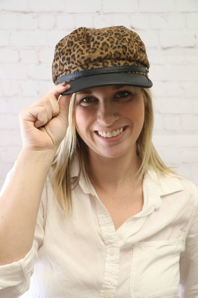 Moving Forward Brando Leopard Cap with Black Accented Brim in Multiple Colors