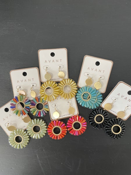 All The Ways Crystal Bead Flower Shape Earring In Multiple Colors