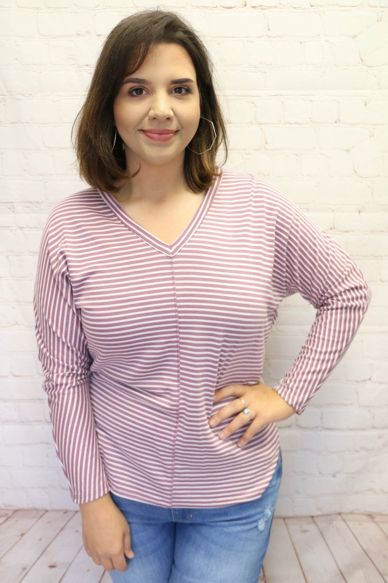 For Every Day Striped Dolman Top in Multiple Colors - Sizes 4-20