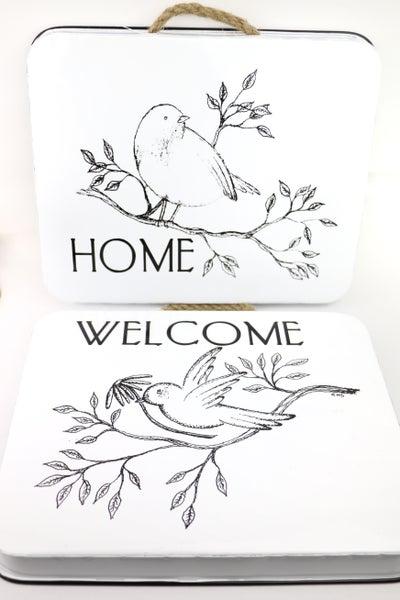 Cute Birdie Metal Wall Plaque in Multiple Prints