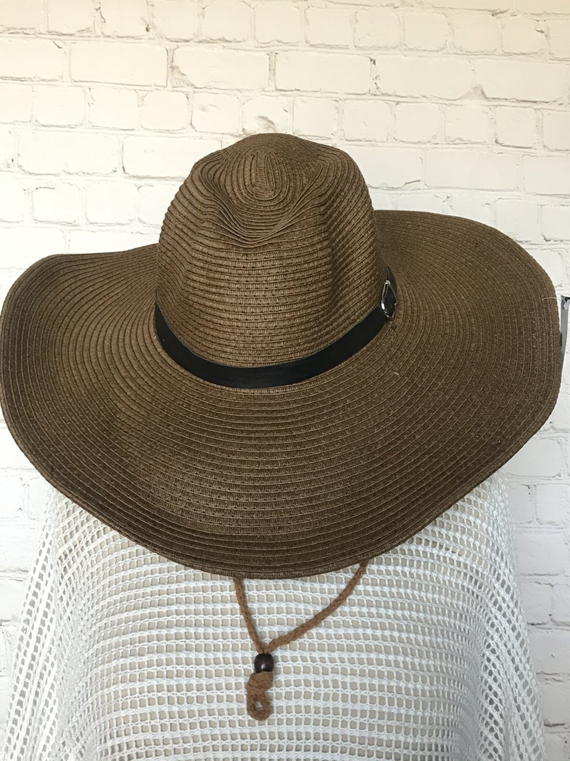 Walking on Sunshine Straw Hat with Accent Belt in Multiple Colors