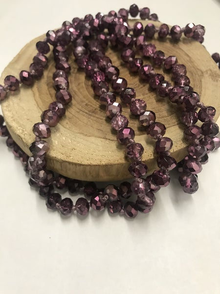 Amethyst Point of Perfection Beaded Necklace