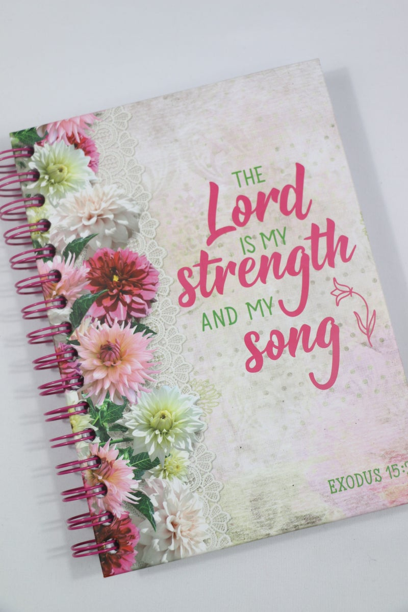 The Lord is my Strength and My Song Lined Spiralbound Journal