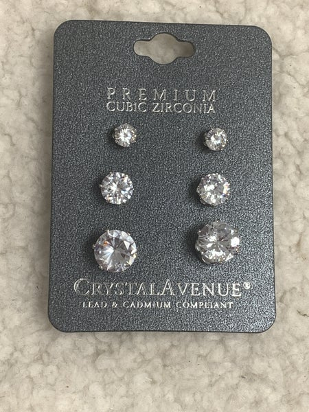 She's So Classy 3 Piece CZ Stud Earrings In Multiple Colors