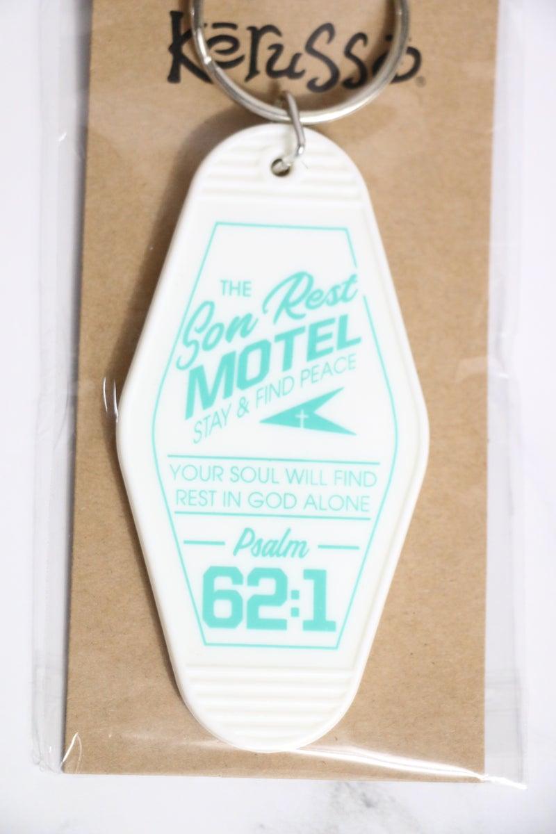 Retro Motel Keychain in Multiple Sayings