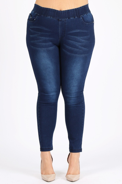 The Allie Dark Wash Skinny Jegging - Sizes 22-30
