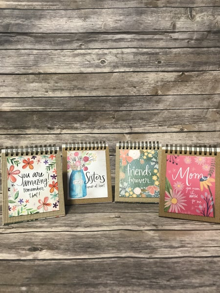 Easel Book with Scripture and Motivational Pages in Multiple Themes