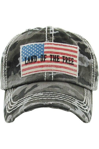 Land Of The Free Unisex Baseball Cap in Multiple Colors
