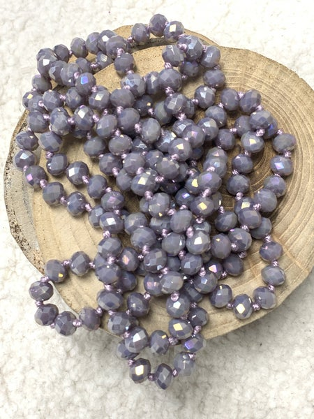 Lavender Point of Perfection Beaded Necklace