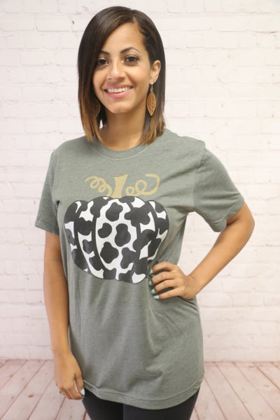 Perfect Cow Pumpkin Tee - Sizes 4-20