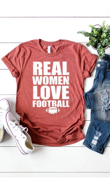 ***PRE-ORDER***Real Women Love Football Graphic Tee - Sizes 4-14