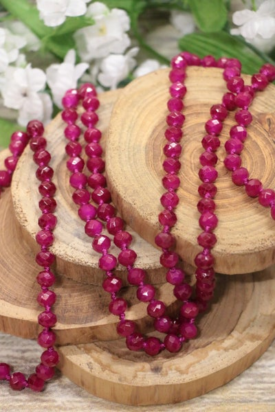 Magenta Point Of Perfection Beaded Necklace