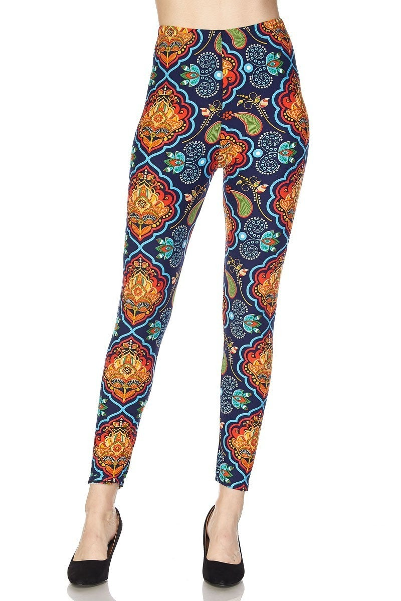 Just a Dream Navy Paisley Legging - Sizes 12-20