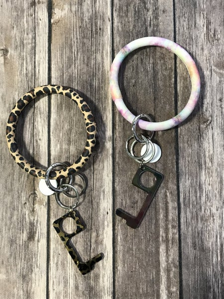 Come and Go No Touch Bangle Key Ring in Multiple Colors