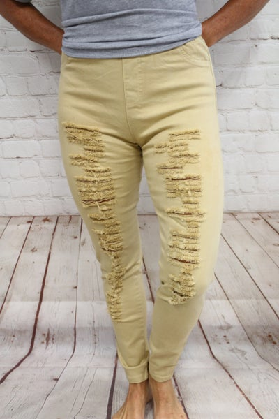 Sandy Distressed Jeggings Sizes 4-10