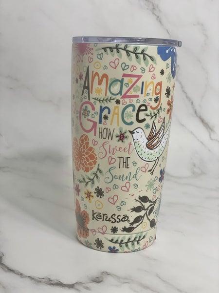Amazing Grace 20 oz Stainless Steel Tumbler