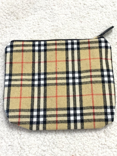 Starting Over Burberry Zipper Pouch Bag