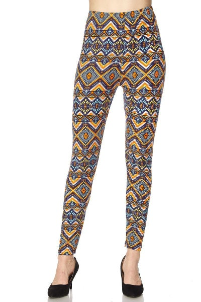Hip Hip Hooray Blue and Orange Aztec - Sizes 12-20