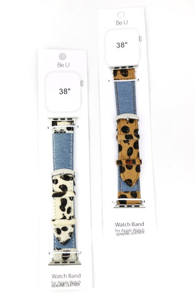 Howdy Denim And Ponyhair Apple Watch Band In Multiple Colors
