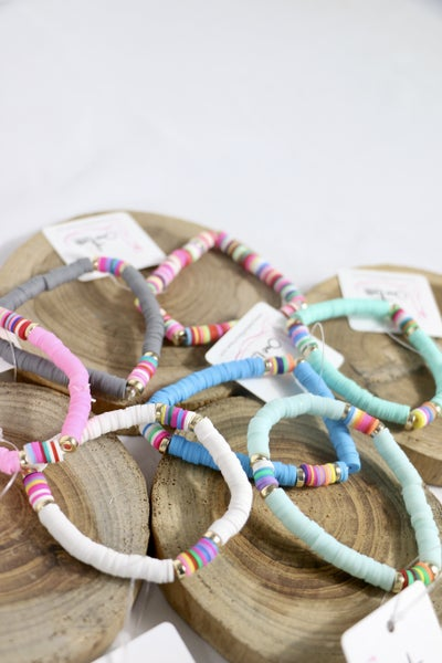 This Is The Way Single Strand Rubber Disc Stretch Bracelet In Multiple Colors