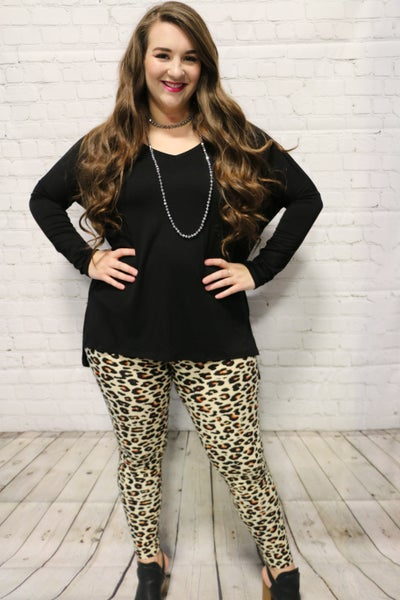 Feeling Feisty Leopard Leggings - Sizes 2-20