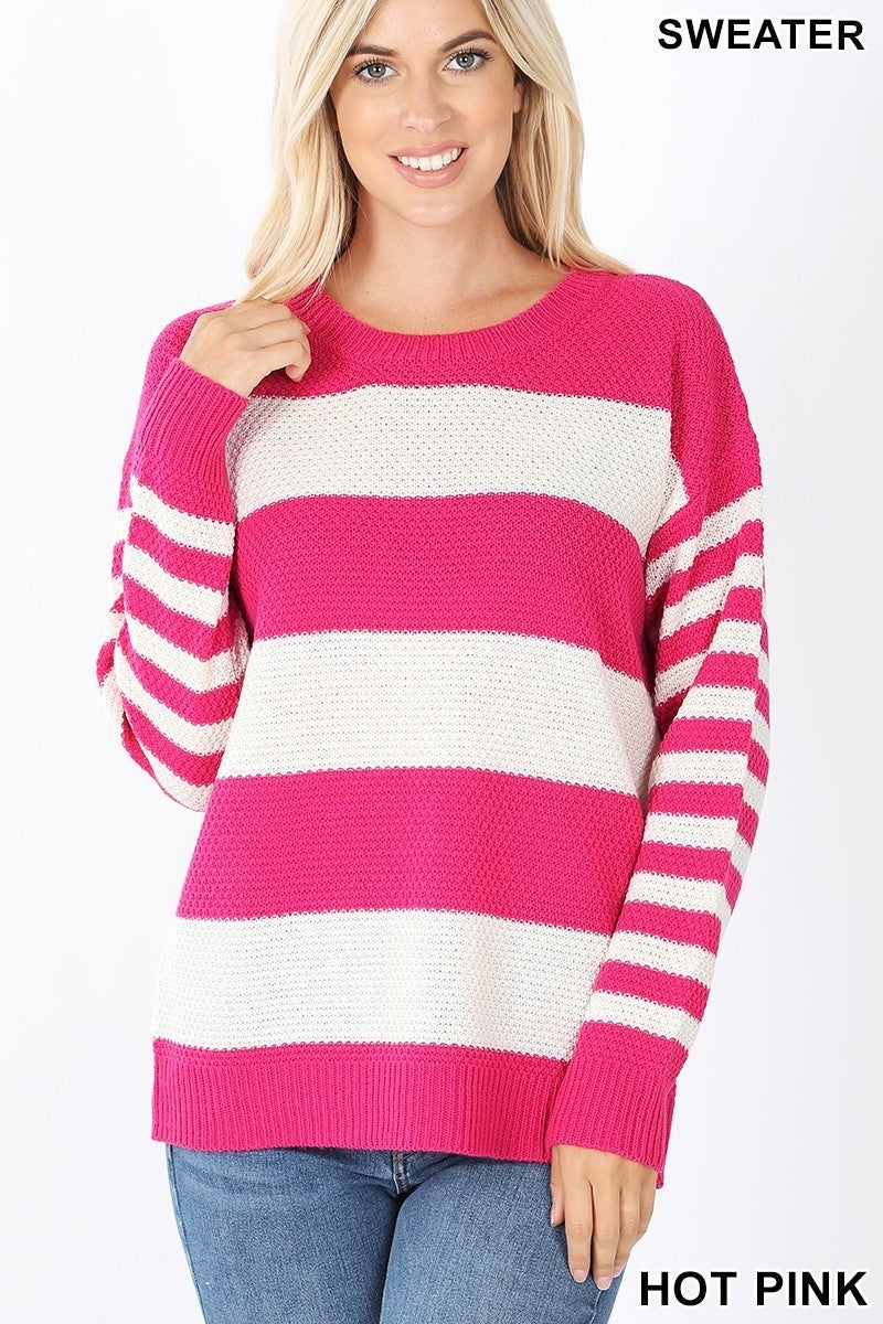Looking Forward Striped Sweater in Multiple Colors - Sizes 4-12