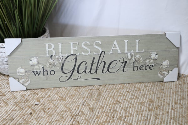 Long Wood Slat Wall Sign In Multiple Sayings