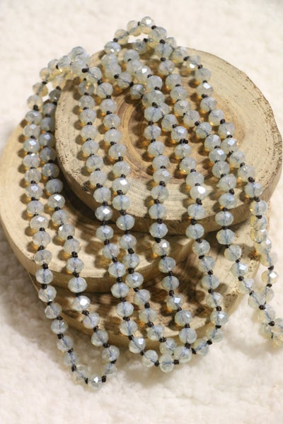 Clear Opal Point Of Perfection Beaded Necklace