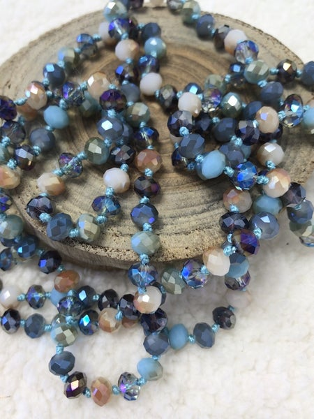 Ocean Water Point Of Perfection Beaded Necklace