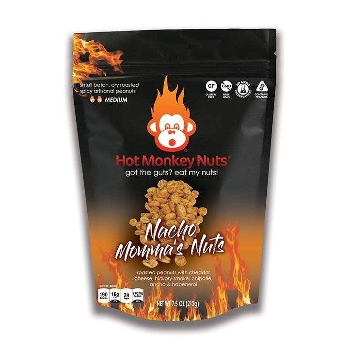 Hot Monkey Roasted Peanuts in Multiple Flavors