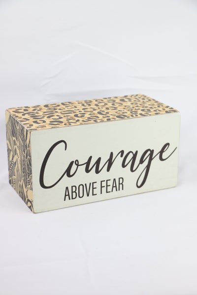 Courage Above Fear Rectangular Cube