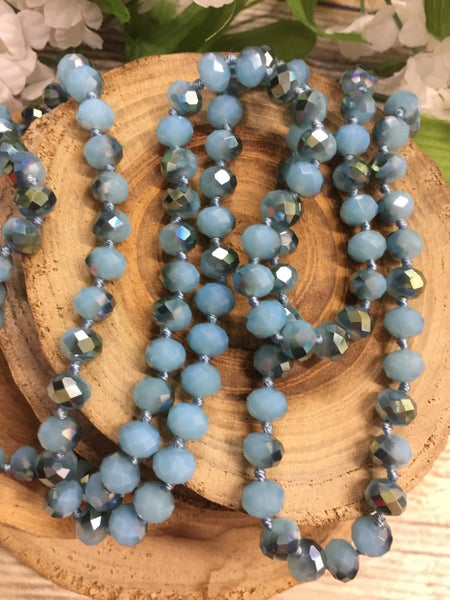 Carolina Blue he Point Of Perfection Beaded Necklace